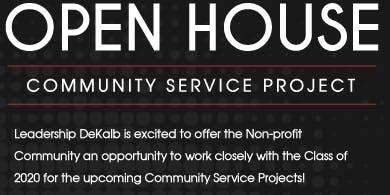 Leadership DeKalb's Community Service Project Open House
