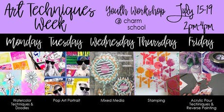 7.15-7.19 - Art Techniques Week - 2-4PM tickets