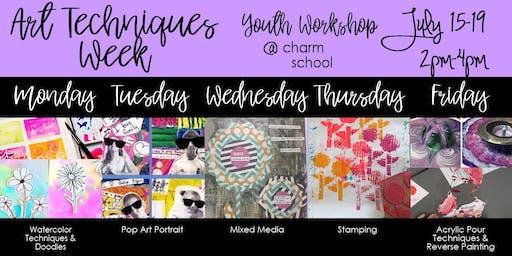 7.15-7.19 - Art Techniques Week - 2-4PM