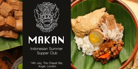 Indonesian summer soirée: 3 course supper club tickets