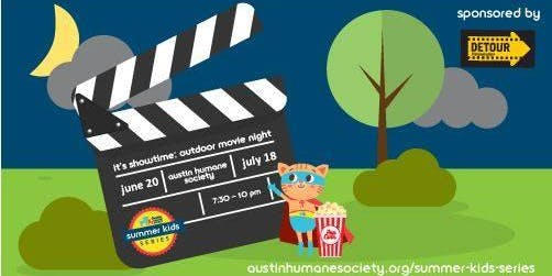 Austin Humane Society July Outdoor Movie Night