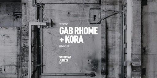GAB RHOME + KORA | All Night Long at Audio