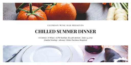 Clemson Wine Bar Summer Wine Dinner
