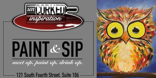 Paint & Sip | Baby Owl