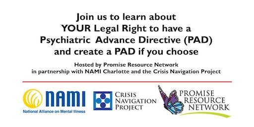 Psychiatric Advanced Directives (PAD) 9.17.19
