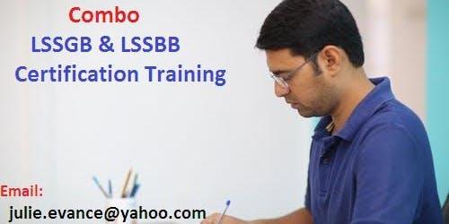 Combo Six Sigma Green Belt (LSSGB) and Black Belt (LSSBB) Classroom Training In Calistoga, CA