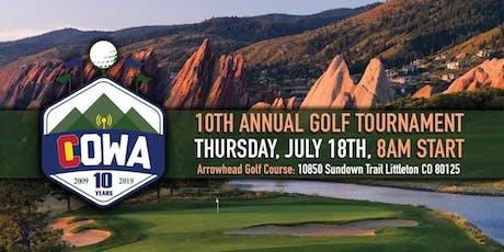10th Annual Colorado Wireless Association Golf Tournament tickets