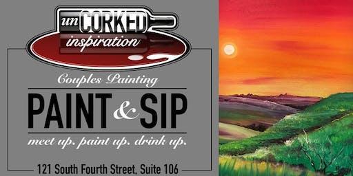 Paint & Sip   Flint Hills Sunset