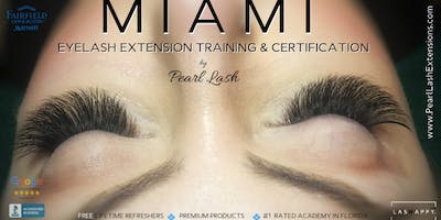 Volume Eyelash Extension Training Hosted by Pearl Lash Miami September 16, 2019