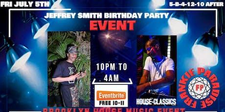 Jeffrey Smith Birthday Event Frankie Paradise tickets