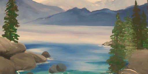 Sip, Nibble & Paint ~ Lake Scene
