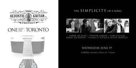 THE SIMPLICITY OF A SONG : The Acoustic Guitar Project tickets