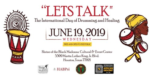 LET'S TALK International Day of Drumming and Healing