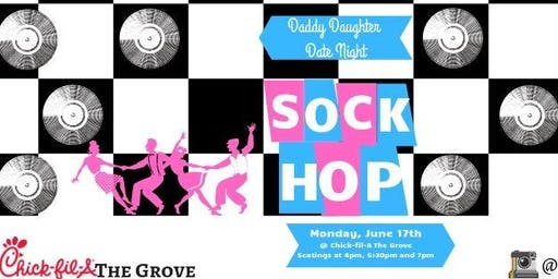 """Chick-fil-A Daddy Daughter """"50's Sock Hop"""" Date Night"""