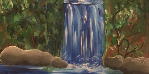 Sip, Nibble & Paint ~ Waterfall