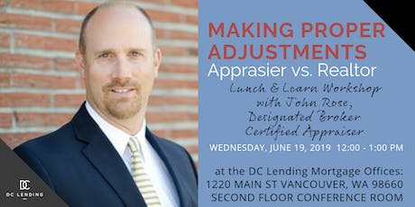 Making Proper Adjustments - Appraiser vs. Realtor tickets