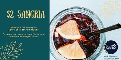 RSVP to Luna Noche for $2 Sangria!