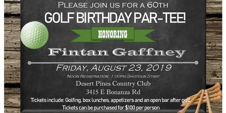 Fintan Gaffney's 60th Birthday Celebration tickets