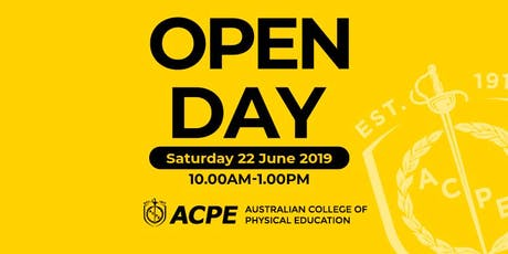 ACPE Open Day - 22 June 2019 - Sydney Olympic Park tickets