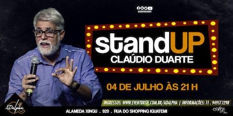 STANDUP PR CLÁUDIO DUARTE bilhetes