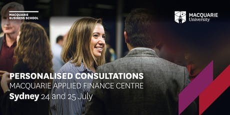 Personalised Consultations - Macquarie Applied Finance Centre - Sydney tickets