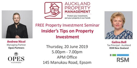 APM Seminar - Insider's Tips on Property Investment tickets