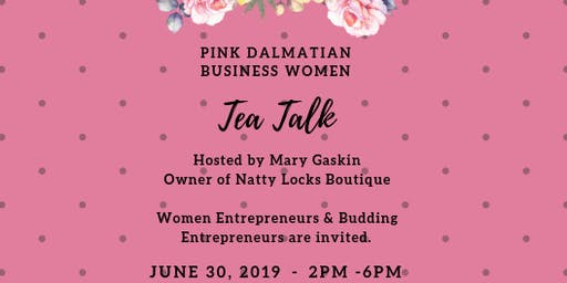 Pink Dalmatian Business Women Tea Talk