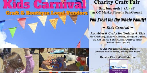 Volunteers Needed: Kids Carnival & Charity Craft Fair