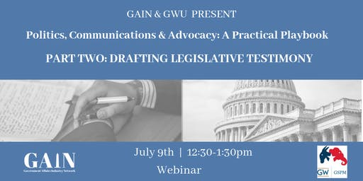 Webinar: Drafting Legislative Testimony