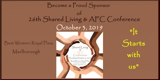 Shared Living  & AFC Conference 2019 Sponsorship Opportunities