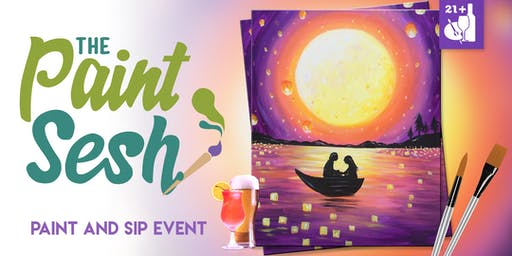 "Paint night in Riverside, CA – ""Radiant Romance"""