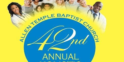 Allen Temple 42nd. Annual Health Fair - Volunteers Registration