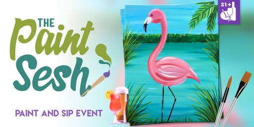"Paint and Sip in Riverside, CA – ""Flamingo Marsh"""