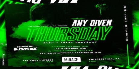 Any Given Thursday at Mirage Lounge 6/20/19 tickets