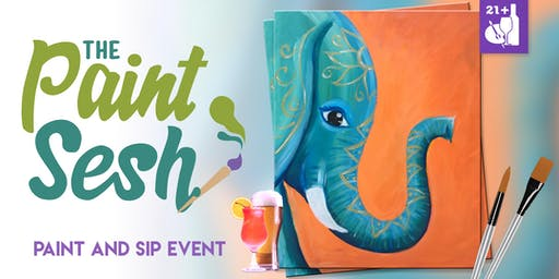 "Paint Night in Downtown Riverside, CA – ""Bohemian Tusk"""