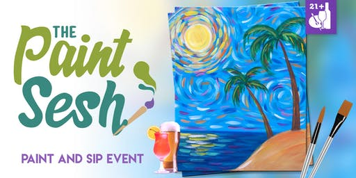 "Paint and Sip in Downtown Riverside, CA – ""Sunny Daze"""
