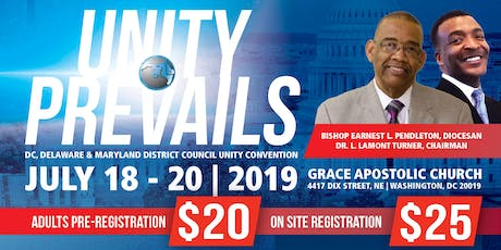 DC, Delaware & Maryland District Council Unity Convention tickets