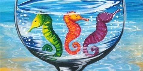 Seahorse Wineglass