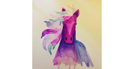 Colorful Watercolor Horse tickets