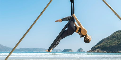 Aerial beach yoga - intermediate/advanced (7, 14, 21, 28 July)