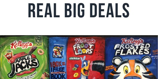 FREE EVENT:  REAL BIG DEALS new paintings by Taylor Chapin