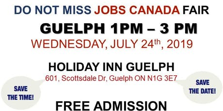 FREE: Guelph Job Fair – July 24th, 2019 tickets