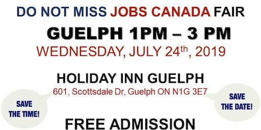 FREE: Guelph Job Fair – July 24th, 2019