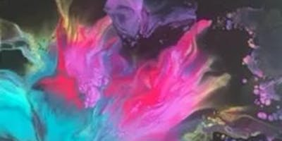 ***** Abstract Paint Pour - Downtown Grapevine