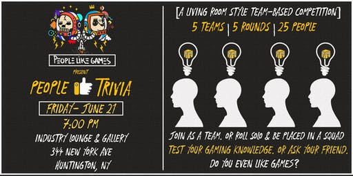 PLG & Industry present People Like Trivia: Gaming Themed Trivia Night