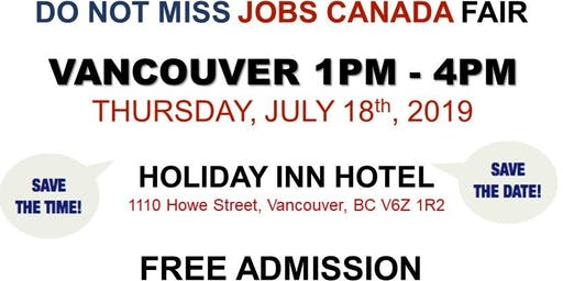Vancouver Job Fair – July 18th, 2019