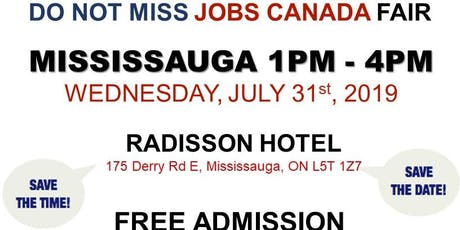 FREE: Mississauga Job Fair - July 31st, 2019 tickets