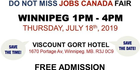 Free: Winnipeg Job Fair – July 18th, 2019 tickets