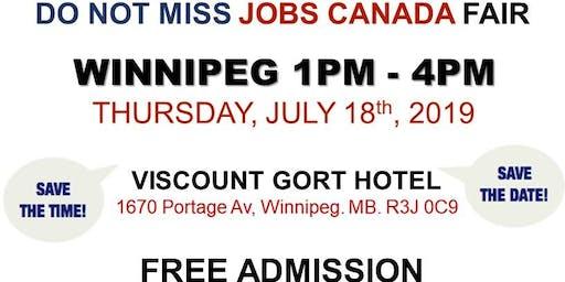 Free: Winnipeg Job Fair – July 18th, 2019