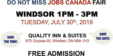 Windsor Job Fair – July 30th, 2019 tickets